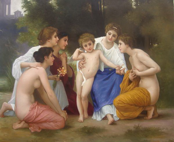 特価油絵 ブーグローの名作「敬愛」