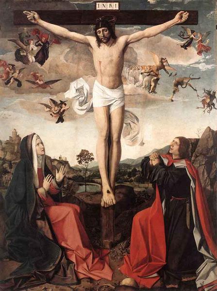 油絵 Lieferinxe Josse_キリストの磔刑