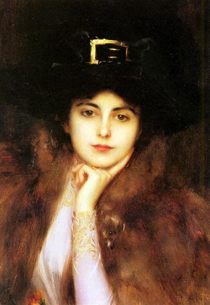 名画 引出物 絵画 油絵 Albert_ 貴婦人の肖像 送料無料/新品 Lynch