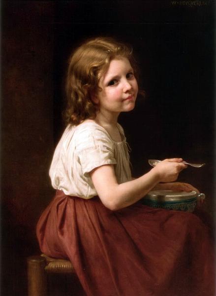 油絵 ウイリアム・ブーグローの名作「スープ」
