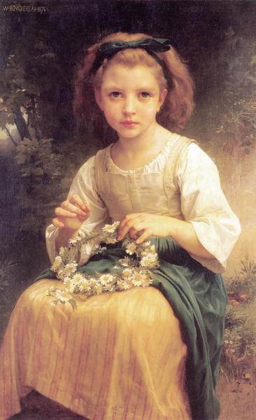 名画 誕生日プレゼント ブランド買うならブランドオフ 絵画 油絵 ブーグローの名作 ウイリアム 王冠編みの娘
