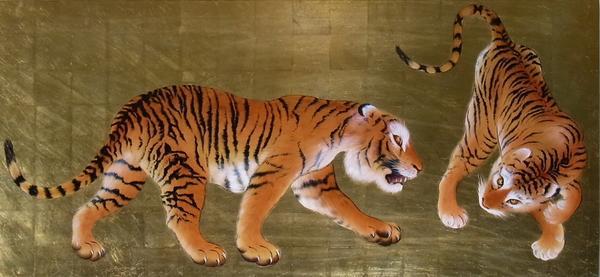 漆絵 竹内栖鳳の名作「虎」