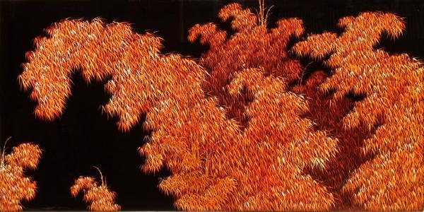 漆絵 竹林