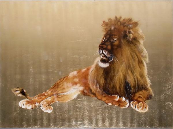 漆絵 竹内栖鳳の名作「大獅子図」