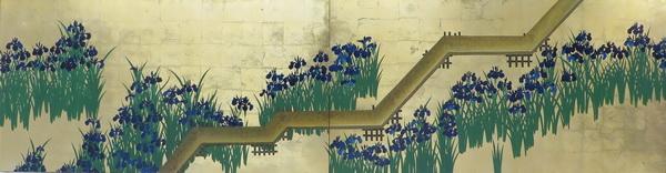 漆絵 尾形光琳の名作「八ツ橋図」