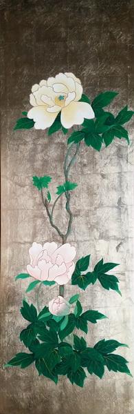 漆絵 本阿弥光甫の名作「牡丹」