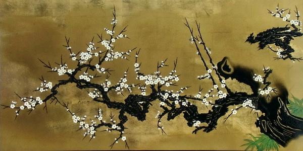 漆絵 名古屋城本丸御殿障壁画「梅花」
