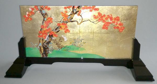 漆絵 酒井抱一の名作「楓図」 専用スタンド付