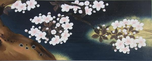 特価漆絵 桜図