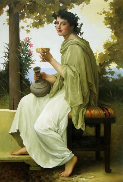 名画 絵画 驚きの価格が実現 油絵 ブーグローの名作_酒飲みの女 休日 ウイリアム