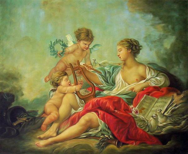 名画 絵画 油絵 天使の楽器 ブーシェの名作 トラスト 最安値