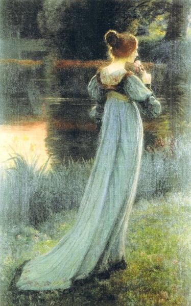 名画 絵画 油絵 Point_ロングドレスの女 メーカー再生品 70%OFFアウトレット Armand