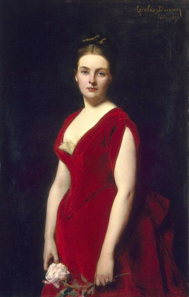油絵 Carolus Duran_Anna Obolenskaya