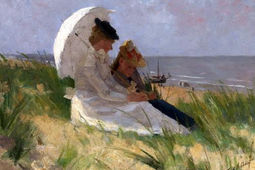 名画 絵画 油絵 Ferdinand ザントフォールト砂丘で Nibbrig_ Hart ランキング総合1位 出荷