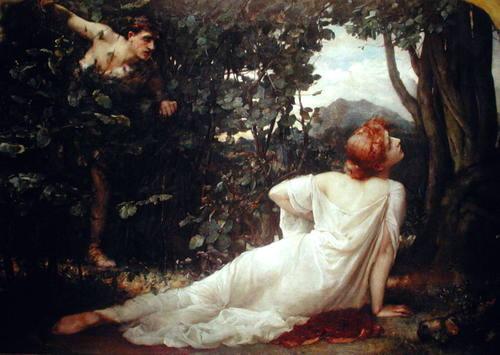 名画 絵画 高級な 油絵 白いドレスの女 上等 Henrietta Rae_