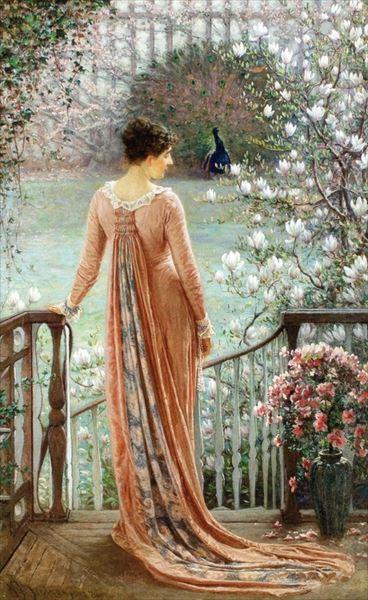 名画 絵画 サービス 油絵 William John 春のファンタジー Hennessy_ 購入