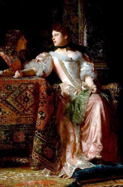 名画 絵画 油絵 Wladidislaw Czachorski_ Ladislas 即日出荷 売却 求婚