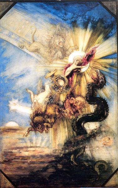 名画 毎週更新 絵画 油絵 ファエトン Gustave Moreau_ 美品