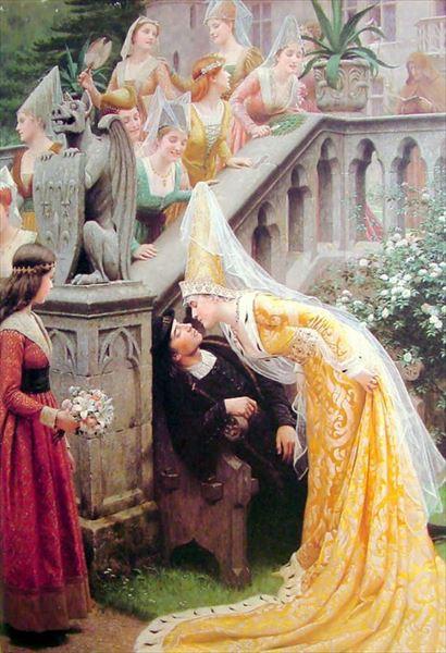 名画 絵画 油絵 期間限定の激安セール Edmund Leighton_アラン Blair 人気海外一番 シャルティエ