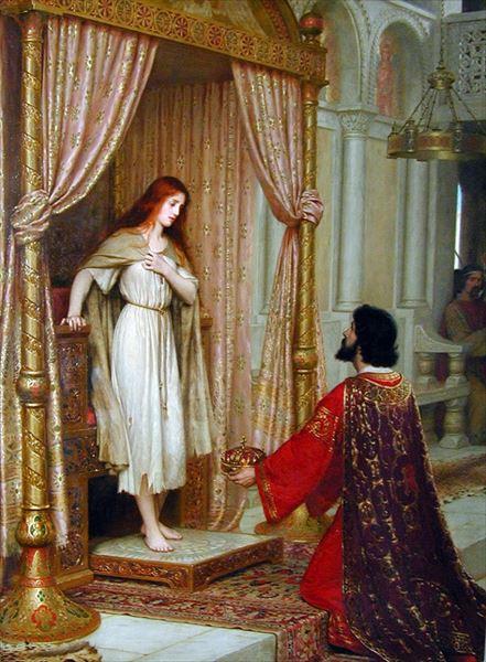 名画 絵画 油絵 Edmund ついに再販開始 Leighton_ コフェチュア王と乞食の娘 贈答 Blair