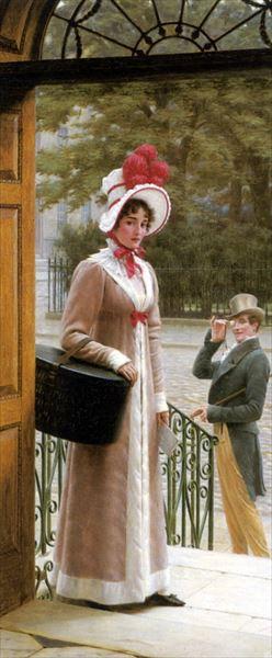 名画 絵画 油絵 驚きの値段 Edmund Leighton_ 称賛の眼差し 期間限定 Blair