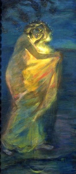油絵 Alice Pike Barney_ 太陽をまとう女