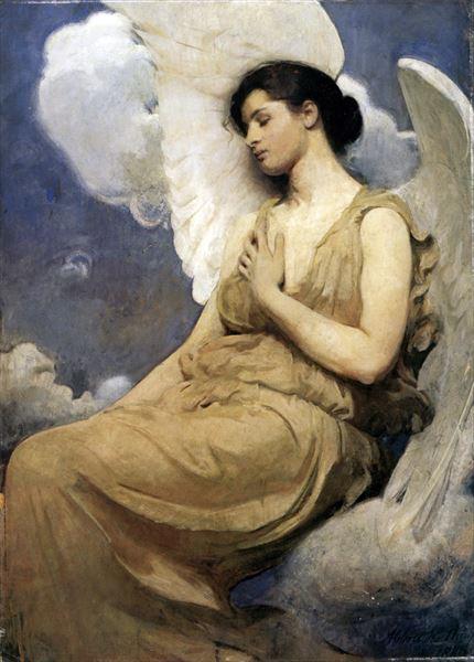 名画 ランキングTOP10 絵画 油絵 Abbott - Handerson 翼を持つ女 入手困難 Thayer