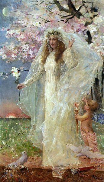 名画 絵画 油絵 Alfred - アモレの結婚 ランキングTOP10 流行のアイテム Stevens