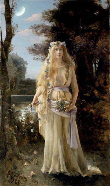 名画 交換無料 絵画 油絵 Alfred - 春の新作 オフィーリア Stevens