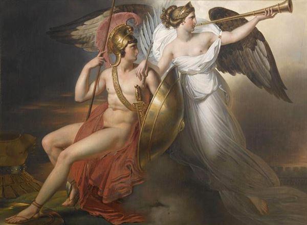 油絵 Anne-Louis Girodet de Roussy-Trioson_ Mars et la Renommée