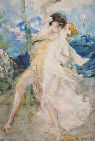 油絵 Antoine Calbet_ ル・メレンゲ