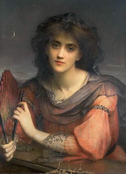 名画 絵画 油絵 Charles 新作 人気 Halle;_月の女神 Edward 買取 ルナ