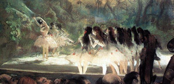 油絵 エドガー・ドガの名作_ パリオペラバレエ