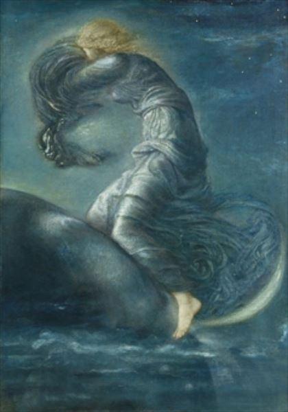 名画 絵画 油絵 Edward Burne-Jones_ ルナ 月の女神 在庫あり 国内正規品