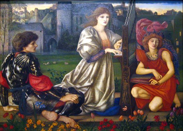 休み 名画 結婚祝い 絵画 油絵 Burne-Jones_ 愛の歌 Edward