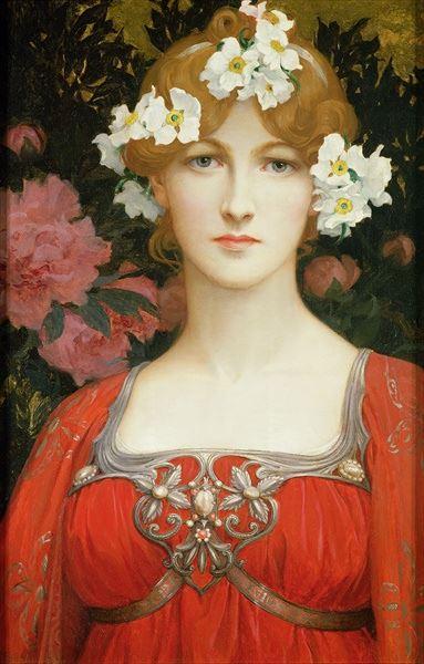 名画 爆安プライス 絵画 油絵 白い花の頭飾り 激安 激安特価 送料無料 Elisabeth Sonrel_