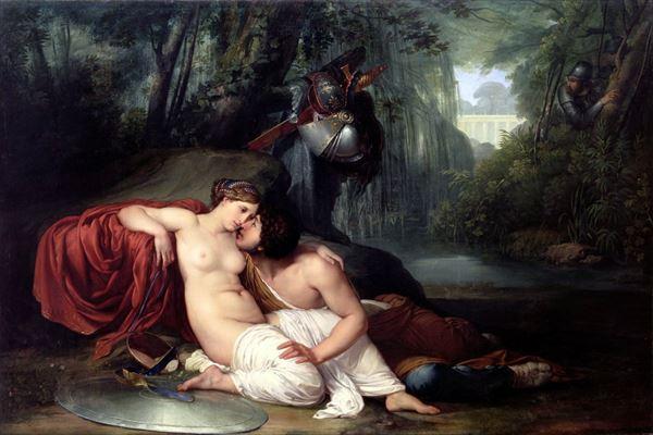 油絵 Francesco Hayez_ リナルドとアルミダ