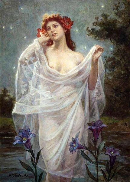 名画 絵画 油絵 限定モデル 毎週更新 Franz 水の妖精 Doubek_ Bohumil