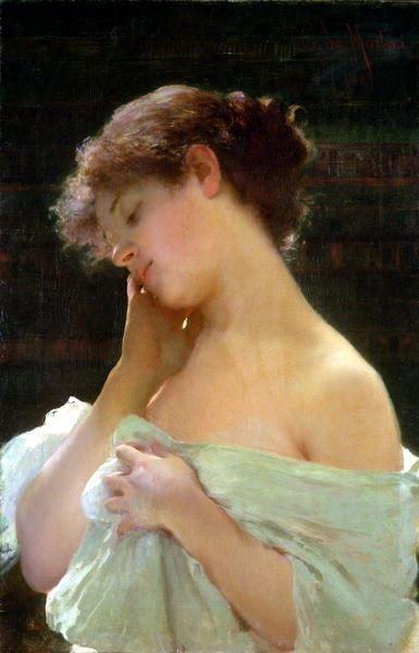名画 絵画 油絵 限定タイムセール Gaetano 新色 若い美女 de Martini_