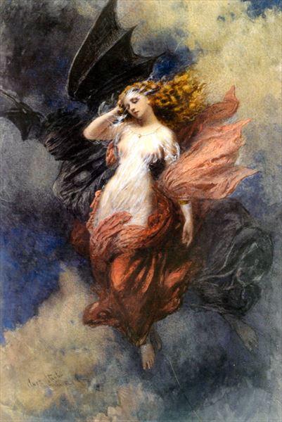 名画 [並行輸入品] 絵画 油絵 George Clark 当店限定販売 Stanton_ 乙女の死
