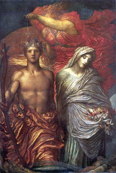 ファクトリーアウトレット 名画 絵画 油絵 George Watts_ Frederic 審判 割引も実施中