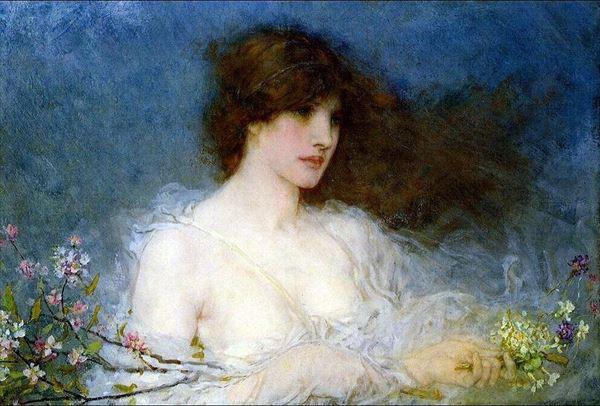 年末年始大決算 名画 絵画 油絵 George Henry 受注生産品 春の牧歌 Boughton_