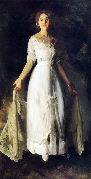 セールSALE%OFF 名画 絵画 油絵 人気商品 George Wesley Bellows_ ミラー夫人