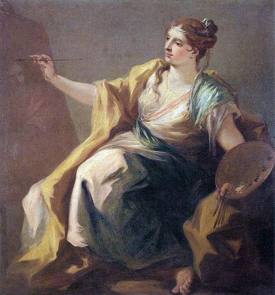 油絵 Giovanni Antonio Pellegrini_ 絵画の寓話