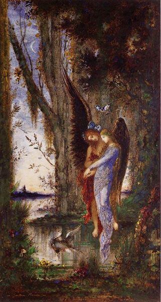 名画 絵画 油絵 夕刻の悲嘆 お気にいる Moreau_ お得 Gustave