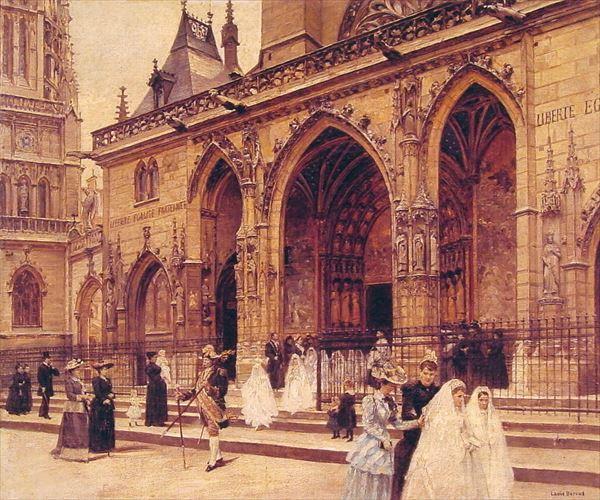 油絵 ジャン・ベロー_ 最初の聖体拝領