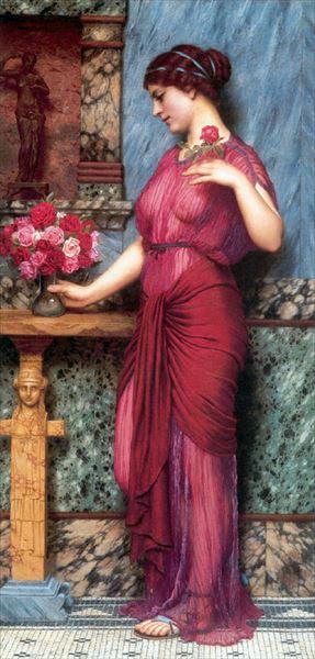 期間限定で特別価格 名画 絵画 宗教画 油絵 John 激安挑戦中 William Godward_ ビーナスへの贈り物