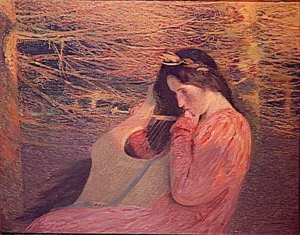 油絵 Martin Henri Jean Guillaume_ミューズ