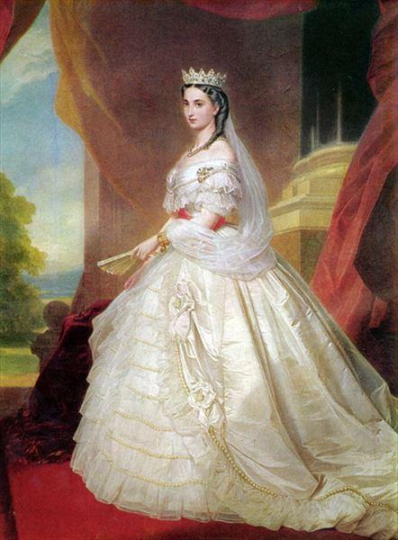 名画 絵画 油絵 新品未使用 使い勝手の良い メキシコ皇后シャーロット ヴィンターハルター_