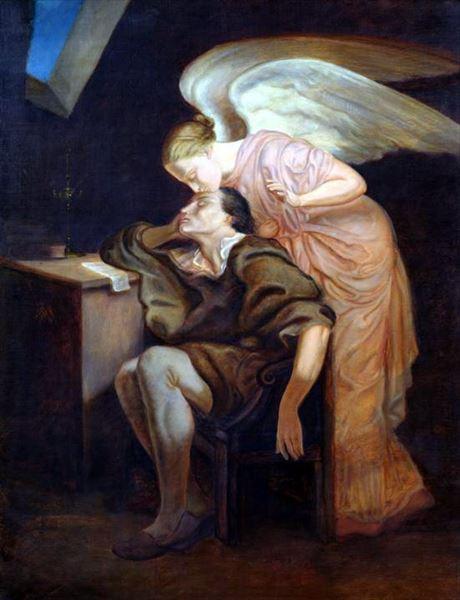 油絵 セザンヌ_ムーサのキス